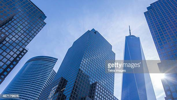 usa, new york state, new york city, world trade center, freedom tower - lower manhattan stock photos and pictures