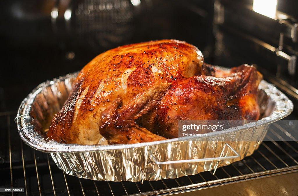 USA, New York State, Roast turkey : Stock Photo