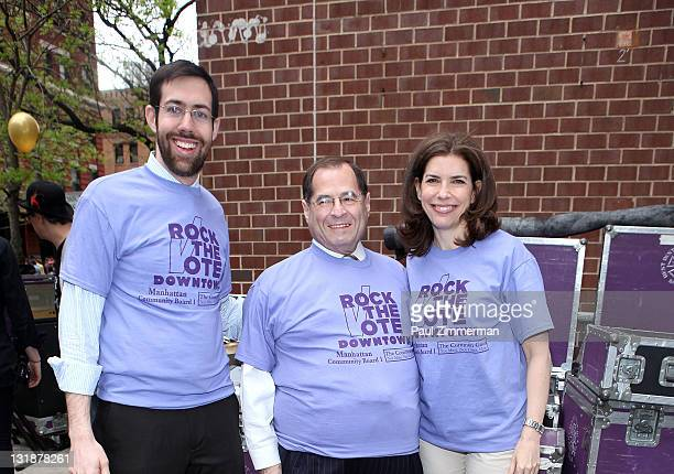 New York State Senator Daniel Squadron Congressman Jerrold Nadler and Julie Menin attend the Family Festival Street Fair during the 10th annual...