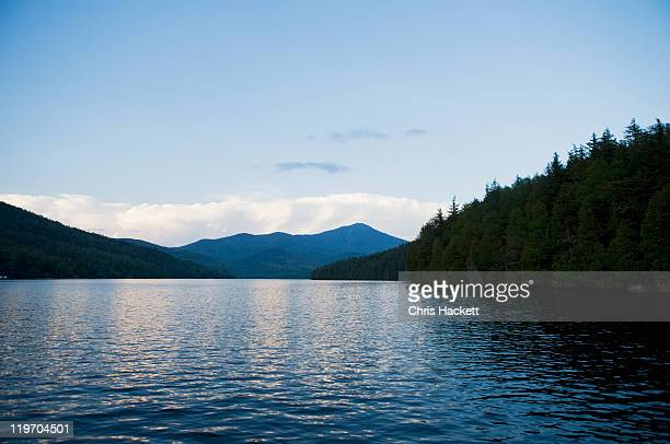 usa, new york state, view on lake placid - hackett stock photos and pictures