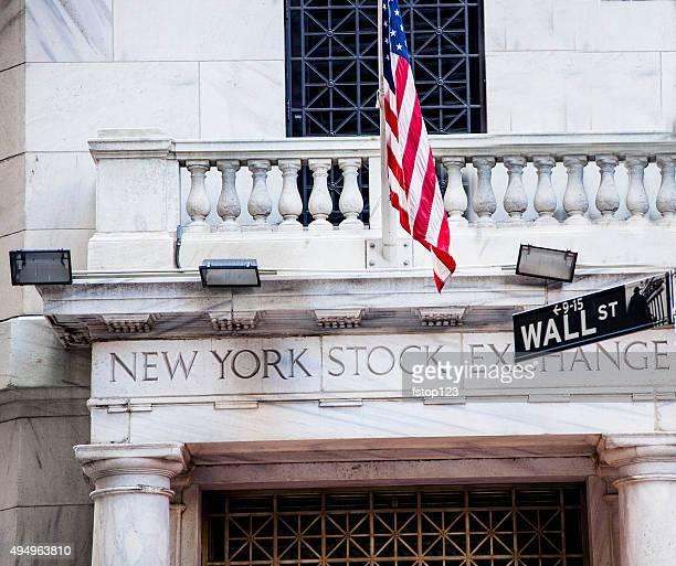 New York Stock Exchange building. Wall Street. New York City.