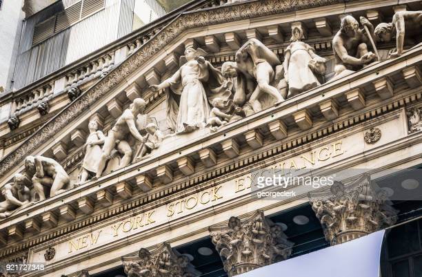 new york stock exchange facade - vintage stock stock pictures, royalty-free photos & images