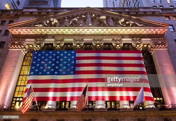 ニューヨーク証券取引所にマンハッタン - ニューヨーク郡 ストックフォトと画像