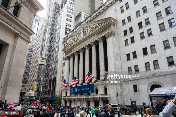 New York Stock Exchange in Wall Street New York United States on October 12 2017