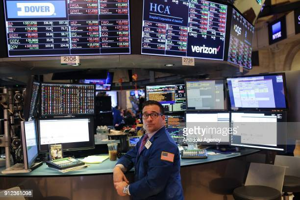 New York Stock Exchange in Wall Street the heart of US business world is hosting the highest market value companies in New York United States on...