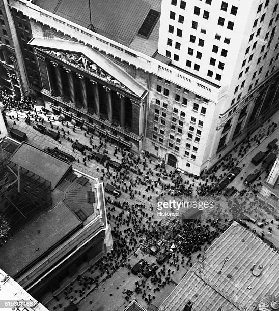New York Stock Exchange on Wall Street during the 1929 stock market crash