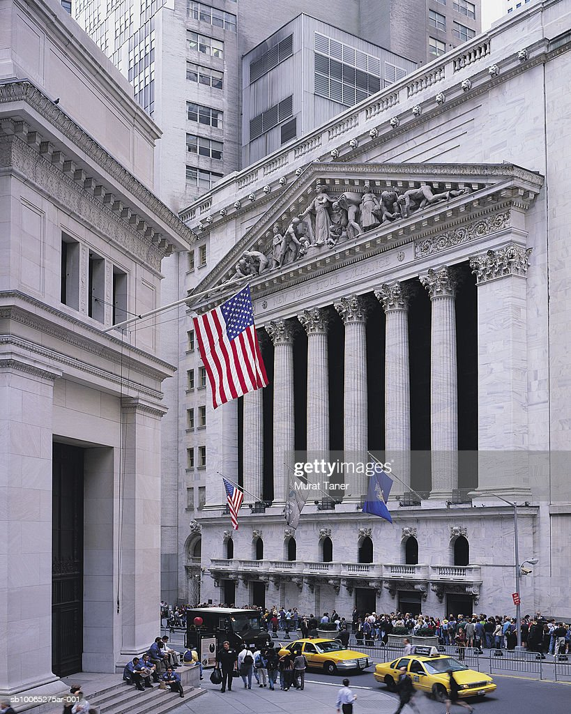 New York Stock Exchange (NYSE) on Wall Street : Foto stock