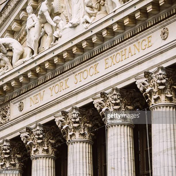 new york stock exchange - geometrical architecture stock photos and pictures