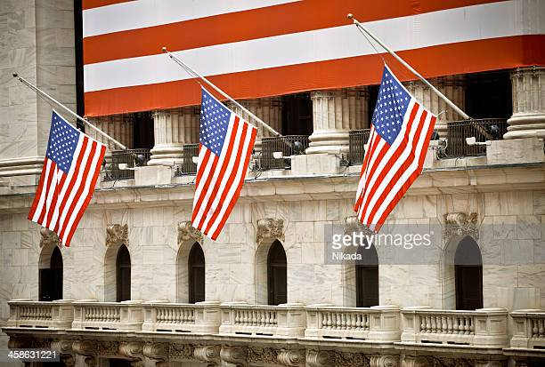 new york stock exchange - half mast stock pictures, royalty-free photos & images