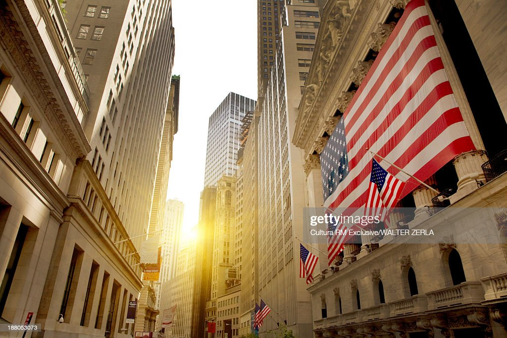 New York stock exchange, wall street, New York, USA : Stock Photo