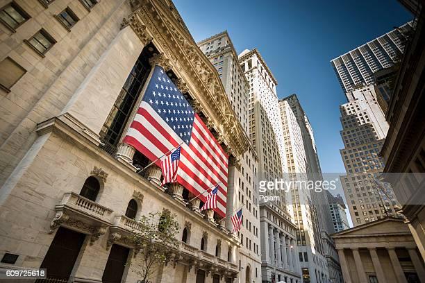 New York stock exchange, Wall Street, USA
