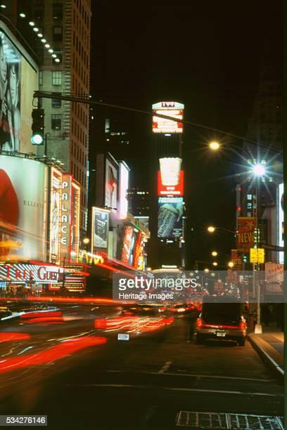 New York street at night 1994 2000