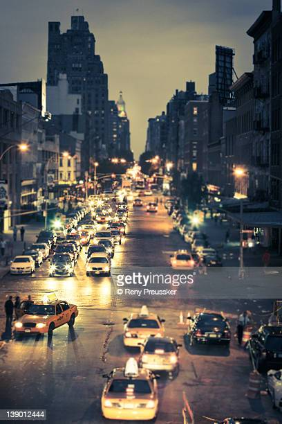 New York street at night