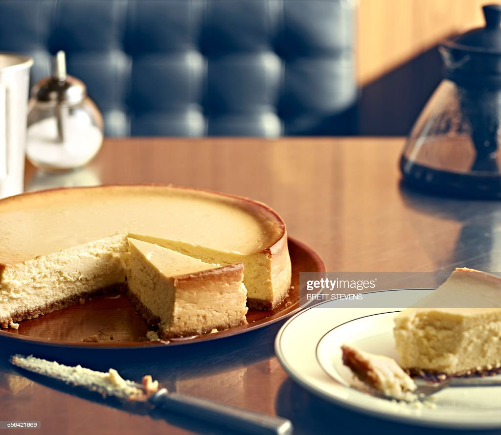 New York Style Diner Series - NY Cheesecake : Stock Photo