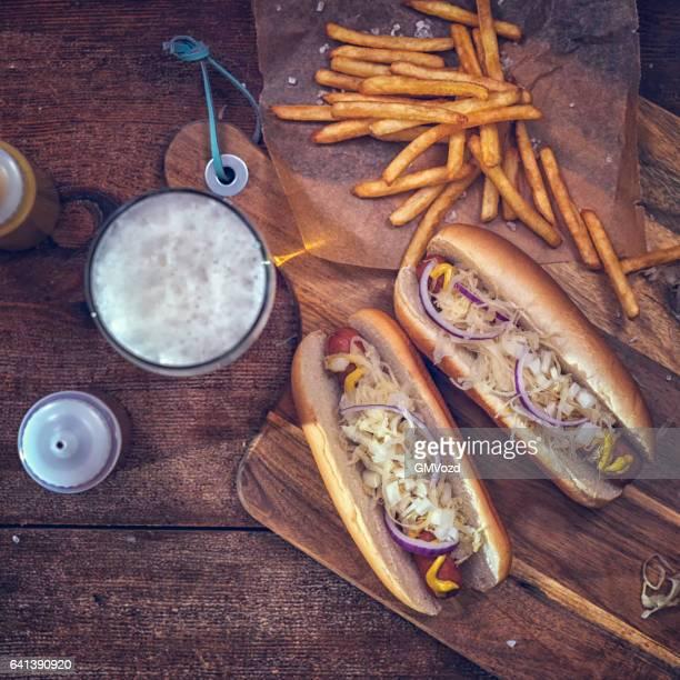 New York Style Hot Dog with Sauerkraut
