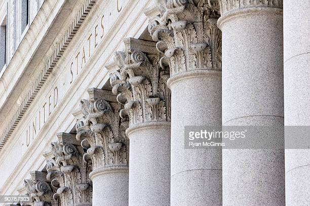 new york supreme court pillars - government stock pictures, royalty-free photos & images