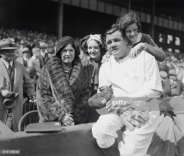 New York: The Babe's Private Rooting Section. Babe Ruth and his family shown at the Yankee Stadium as the Yanks opened their first game on their home...