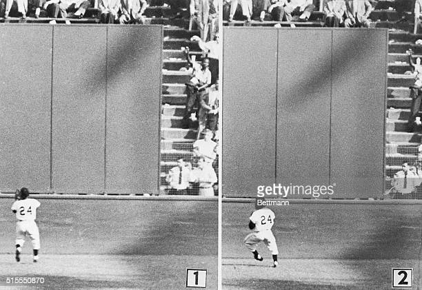 New York: The Catch Of The Season. Willie Mays - The Amazing One - is shown as he made one of the most spectacular catches in World Series history in...