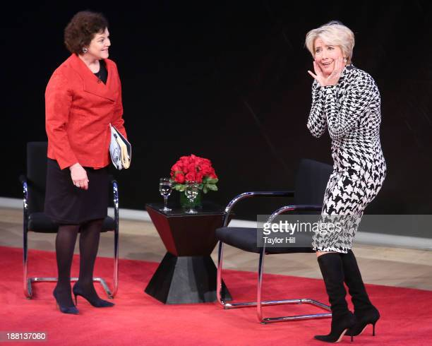 New York Times arts critic Janet Maslin interviews actress Emma Thompson at the Future Academy Museum of Motion Pictures special preview at...
