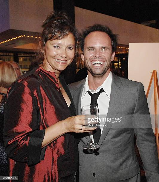 ATLANTA SEPTEMBER 18 New York Times Best Seller Jill Conner Browne and Actor Walton Goggins at the after party for Randy and The Mob Held at STRIP in...
