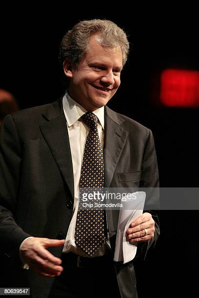 New York Times Chairman Arthur Sulzberger addresses the dedication ceremony of the Newseum April 11, 2008 in Washington, DC. The 250,000-square-foot...