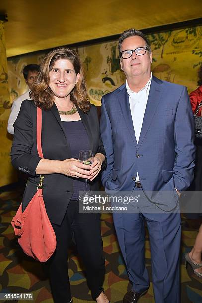 New York Times Deputy Styles editor Laura Marmor and New York Times Styles editor Stuart Emmrich attend the New York Times Vanessa Friedman and...
