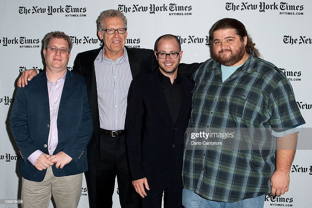 New York Times entertainment editor Lorne Manly, Carlton Cuse, Damon Lindel, and Jorge Garcia attend The New York Times' TimesTalk with the creators of ABC's 'Lost' at TheTimesCenter on May 20, 2010 in New York City.