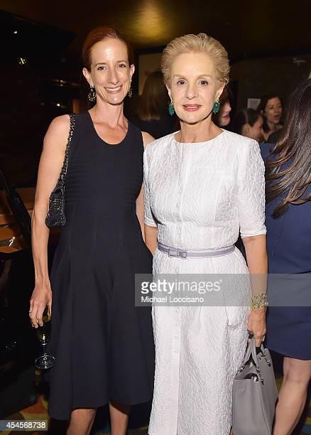 New York Times Fashion Director Vanessa Friedman and fashion designer Carolina Herrera attend the New York Times Vanessa Friedman and Alexandra...