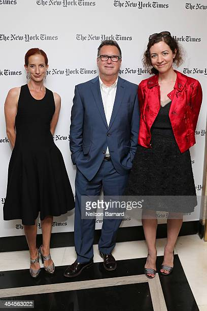 New York Times Fashion Director Vanessa Friedman New York Times Styles editor Stuart Emmrich and New York Times fashion features writer Alexandra...