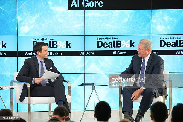 New York Times financial columnist Andrew Ross Sorkin participates in a panel discussion with former Vice President Al Gore chairman of Generation...