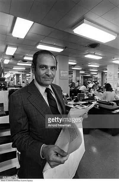 New York Times publisher Arthur Sulzberger poses for portrait in the newsroom August 25 1976 in New York City