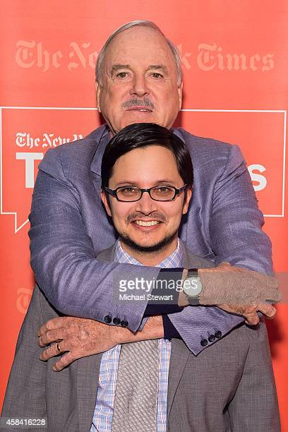 New York Times reporter and author David Itzkoff and actor John Cleese attend TimesTalks Presents An Evening With John Cleese at The New School on...