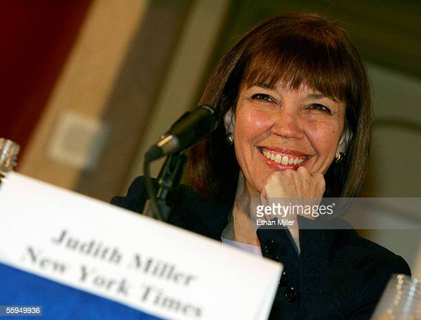 New York Times reporter Judith Miller smiles at the 2005 Society of Professional Journalists Convention National Journalism Conference at the Aladdin...