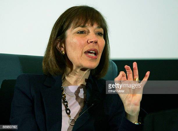 New York Times reporter Judith Miller speaks at the 2005 Society of Professional Journalists Convention National Journalism Conference at the Aladdin...
