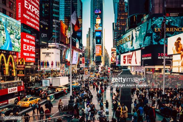 new york times square - times square manhattan stock pictures, royalty-free photos & images