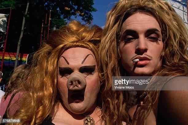 New York: Tompkins Square Park - 10th Annual Wigstock, Men in Drag Feature.