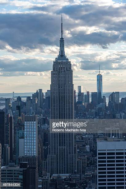 New York tours and attractions Empire state building in New York City Unites States on a cloudy day Generally thought of as an American cultural icon...