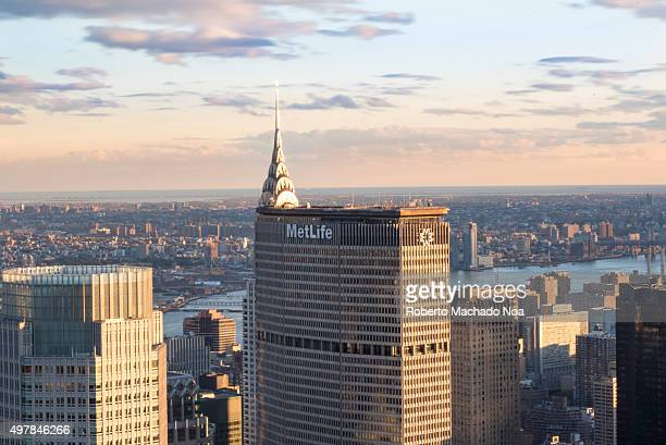 New York tours and attractions: Metlife building standing tall in the city scape of New York City, Unites States. MetLife is among the largest global...