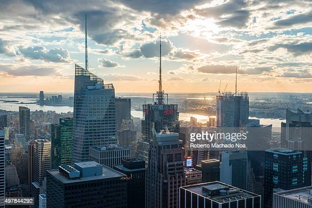 New York tours and attractions Tall buildings decorating the New York City skyline as seen from the Rock observation center New York has...
