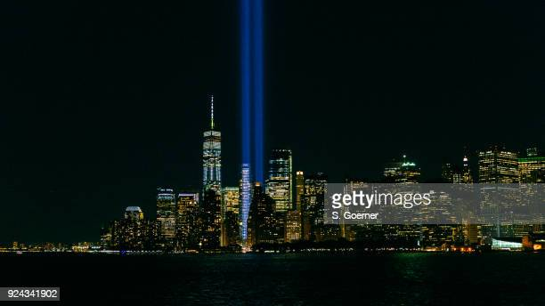 new york - tribute in light - tribute in light stock pictures, royalty-free photos & images