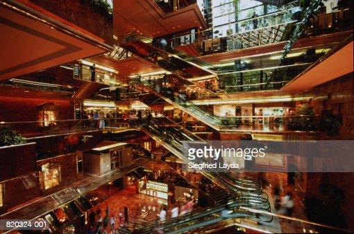 Usa New York Trump Tower Interior Of The Atrium Stock