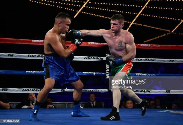 New York United States 17 March 2017 Larry Fryers right in action against Gabriel Solorio at The Theater in Madison Square Garden in New York USA