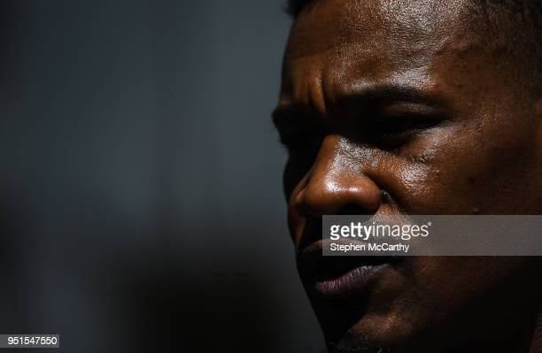 New York United States 26 April 2018 Daniel Jacobs during a press conference at Mondrian Park Avenue ahead of the Straight Outta Brooklyn fight night...
