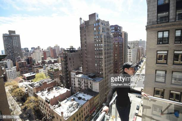 New York United States 26 April 2018 Daniyar Yeleussinov during a press conference at Mondrian Park Avenue ahead of the Straight Outta Brooklyn fight...