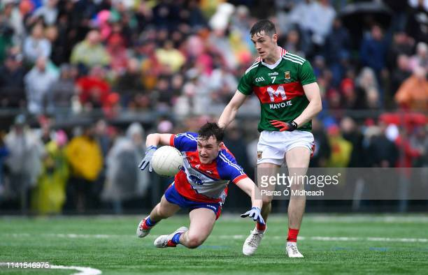 New York United States 5 May 2019 Robert Gorman of New York in action against James McCormack of Mayo during the Connacht GAA Football Senior...