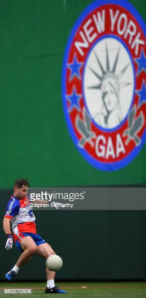 New York United States 7 May 2017 Eugene McVerry of New York shoots to score his side's first goal during the Connacht GAA Football Senior...