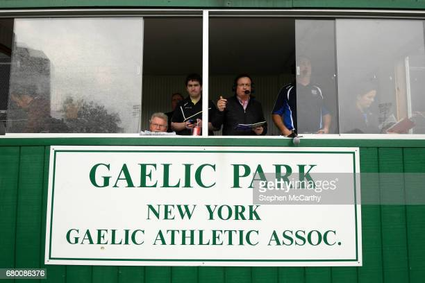 New York United States 7 May 2017 RTÉ gaelic games commentator Marty Morrissey broadcasts live during the Connacht GAA Football Senior Championship...