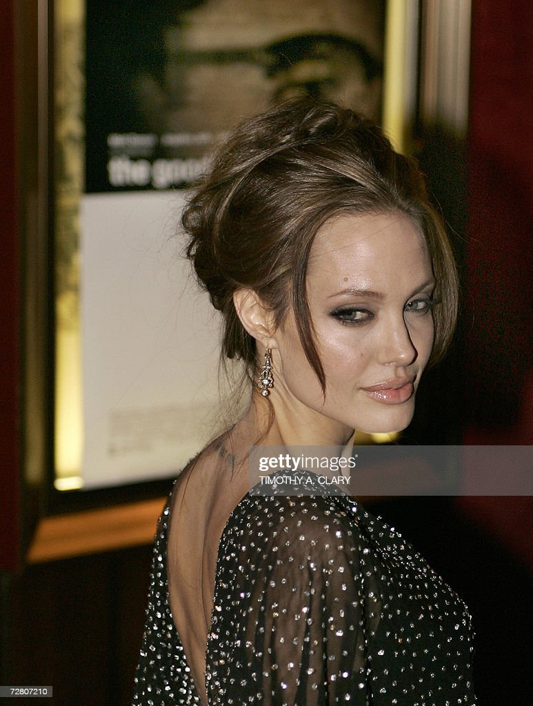 Actress Angelina Jolie attends the World Premiere of 'The Good Shepherd' presented by Universal Pictures at the Ziegfeld Theatre on 11 December 2006 in New York City. AFP PHOTO/Timothy A. CLARY