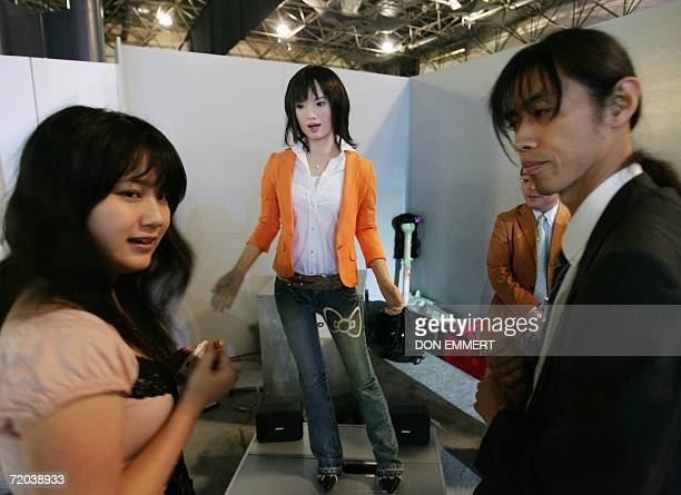 Actroid Der Kokoro an android resembling a young Japanese woman talks with reporters 28 September 2006 during the Wired Nexfest festival in New York...