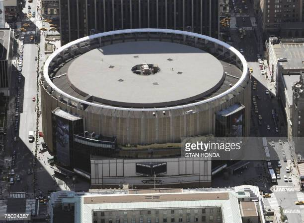 New York, UNITED STATES: Aerial view of Madison Square Garden, 01 July 2007, in New York City. AFP PHOTO/Stan HONDA